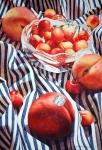 Chris Krupinski ----Peaches and Queen Anne Cherries --- 30 x 22