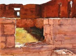 Marion Hylton --- Ruins of Ft. Union 14 x 18