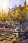 "Iain Stewart--""On The Canal-Amsterdam"""