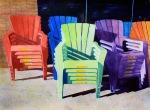 Peggy Milburn Brown, Sidewalk, Award: Paton Fine Art Award Awarded by Alabama Art Supply, Chroma Inc. USA, Savoir-Faire/Fabriano