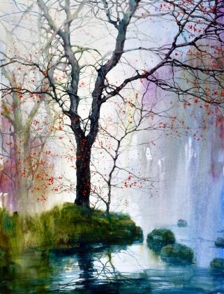 Z. L. Feng, Morning Creek, Award: Southern Watercolor Society Award