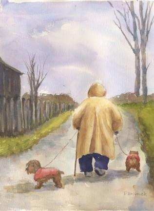 Patricia Hrivnak, Walking The Dogs