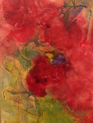K. M. McWhorter, Hibiscus and Poppies, Award: Patron Fine Art Award Awarded by Richeson School of Art, Golden Artist Colors