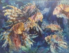 Arlene Morrison, Cruising, Award: Georgia Watercolor Society Award