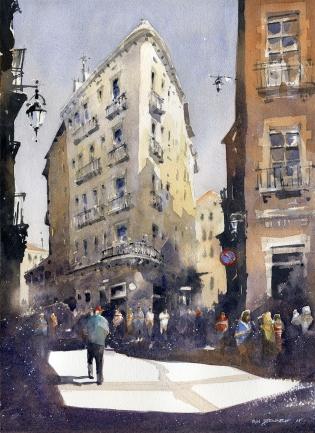 Stewart, Iain, Title: The Gothic Quarter No. 1 Barcelona, Award: Patron Fine Art Award awarded by Richeson School of Art, Creative Catalyst Production