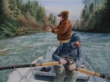 Carol Wilder, Winter Fishing Party